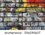 Colorful Graffiti On Brick Wal...