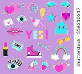 set of patches  stickers ... | Shutterstock .eps vector #556310317