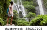 young barefooted tourist in... | Shutterstock . vector #556317103