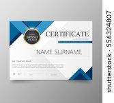 certificate premium template... | Shutterstock .eps vector #556324807