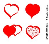 set hearts icons  valentines... | Shutterstock .eps vector #556339813