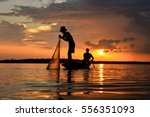 The Silluate Fisherman Trowing...