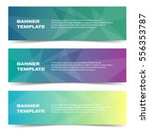 three banner templates with... | Shutterstock .eps vector #556353787