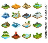 relief isometric flat icons | Shutterstock .eps vector #556355827