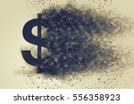 dollar sign exploding and... | Shutterstock . vector #556358923