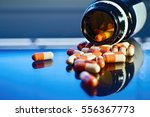 spilled medicine preparation... | Shutterstock . vector #556367773