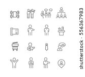 business and people set icons... | Shutterstock .eps vector #556367983