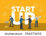 business startup work moments.... | Shutterstock .eps vector #556373653