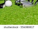 golf club  golf ball and putter ... | Shutterstock . vector #556380817