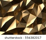 gold abstract background 3d... | Shutterstock . vector #556382017