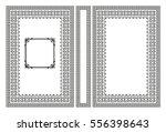 vector book cover. decorative... | Shutterstock .eps vector #556398643