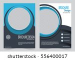blue brochure template flyer...   Shutterstock .eps vector #556400017