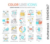 color line  growth hacking... | Shutterstock .eps vector #556404367