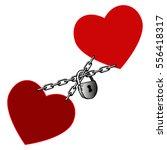 vector illustration. valentine... | Shutterstock .eps vector #556418317
