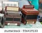 vintage accordion. a portable...   Shutterstock . vector #556419133