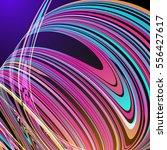 techno geometric vector curve... | Shutterstock .eps vector #556427617