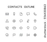 contacts outline icon set  ...