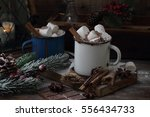 marshmallow with hot chocolate... | Shutterstock . vector #556434733