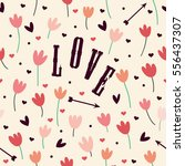 seamless pattern with beautiful ... | Shutterstock .eps vector #556437307