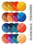 set of round option diagram... | Shutterstock .eps vector #556446883