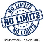 no limits. stamp. blue round... | Shutterstock .eps vector #556452883