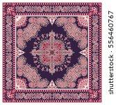 vector ornament paisley bandana ... | Shutterstock .eps vector #556460767