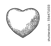 heart. vector black vintage... | Shutterstock .eps vector #556471033
