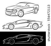 sport cars black and white... | Shutterstock .eps vector #556472113