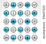 buttons for web. vector. | Shutterstock .eps vector #55647322