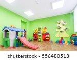 green game room in the... | Shutterstock . vector #556480513