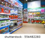 blurred of kids toy store... | Shutterstock . vector #556482283