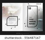 cover design annual report... | Shutterstock .eps vector #556487167