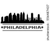 philadelphia silhouette skyline  | Shutterstock .eps vector #556487437