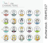 big collection of male and... | Shutterstock .eps vector #556491217