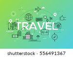 modern infographic banner with... | Shutterstock .eps vector #556491367