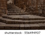 ancient stairs in stone old...   Shutterstock . vector #556494937