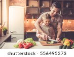 cute little girl and her... | Shutterstock . vector #556495273