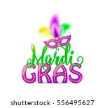 vector illustration of mardi... | Shutterstock .eps vector #556495627