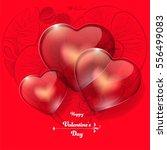 valentine's day background. red ... | Shutterstock .eps vector #556499083
