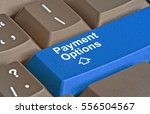 keyboard with key for payment... | Shutterstock . vector #556504567