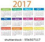 calendar for 2017 | Shutterstock .eps vector #556507117