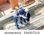 construction worker and... | Shutterstock . vector #556507213