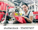 Seamstress Or Worker In Asian...