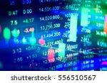 stock's data analyzing in stock ... | Shutterstock . vector #556510567