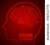 human brain logo neurology... | Shutterstock .eps vector #556511773