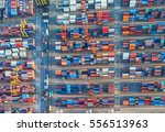 container  container ship in... | Shutterstock . vector #556513963