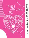 a valentine's day greeting card ...   Shutterstock .eps vector #556518577