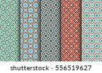 seamless patterns with... | Shutterstock .eps vector #556519627