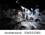 Burned Abandoned Room With...