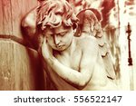 Mourning Angel Statue In...